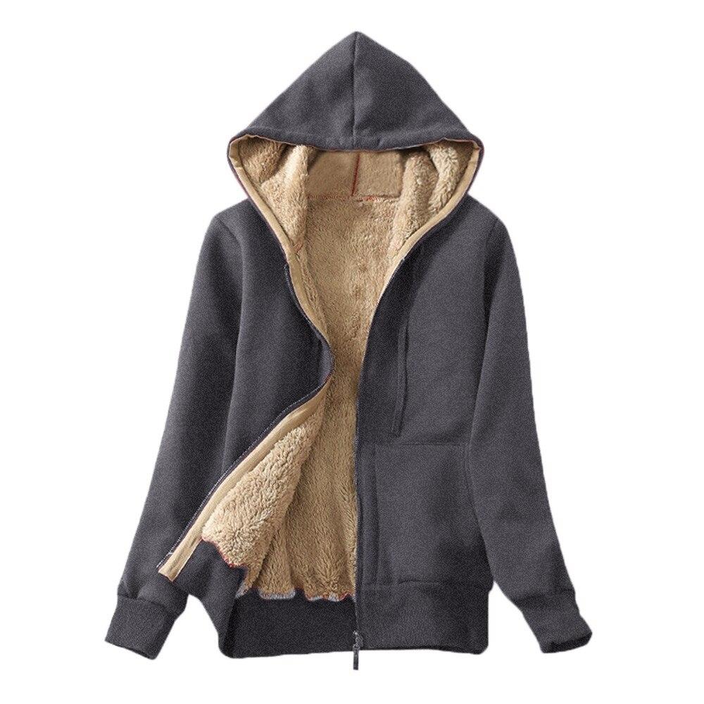 Women's Casual Winter Warm Sherpa Lined Zip Up Hooded Sweatshirt Jacket Coat Hoodies Woman Clothes Sudaderas Para Mujer Bluzy