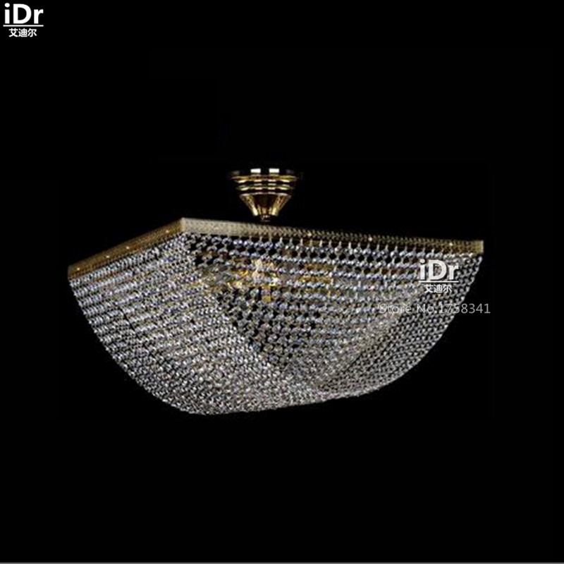 все цены на New Fashion Square Modern crystal lamp personalized living room Terrace Hotel Ceiling Lights