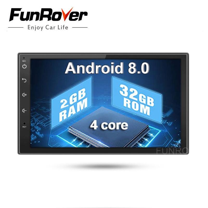 Quad core 2 din android 8,0 универсальный автомобильный мультимедийный плеер автомобиля Радио dvd плеер стерео 2 г + 32 г 7 дюймов Авторадио gps навигация