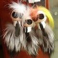 HOT 23cm KARLITO Karl Fur Bag Monster Bag Bugs Charm Keychain Plush Toys With Dust Cloth Pompom Key chain Car Keyring Trinket P8