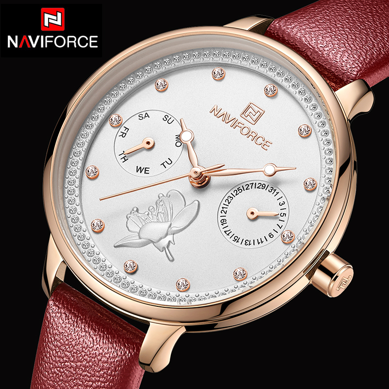 NAVIFORCE Women Quartz Watches Top Luxury Brand Ladies Fashion Simple Female Waterproof Watch Lady Casual Clock Relogio Feminino
