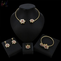 Yulaili New Arrival Flower Chocker Design Elegance Unique Jewelry Sets For Women Gift Anniversary Wedding Occasion