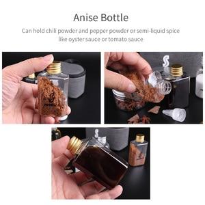 Image 5 - 7 PCS Spice Cruets Set Travel Size Salt Bottle BBQ Sauce Container Anise Bottle Storage Bag Set Camping Hiking BBQ Self driving