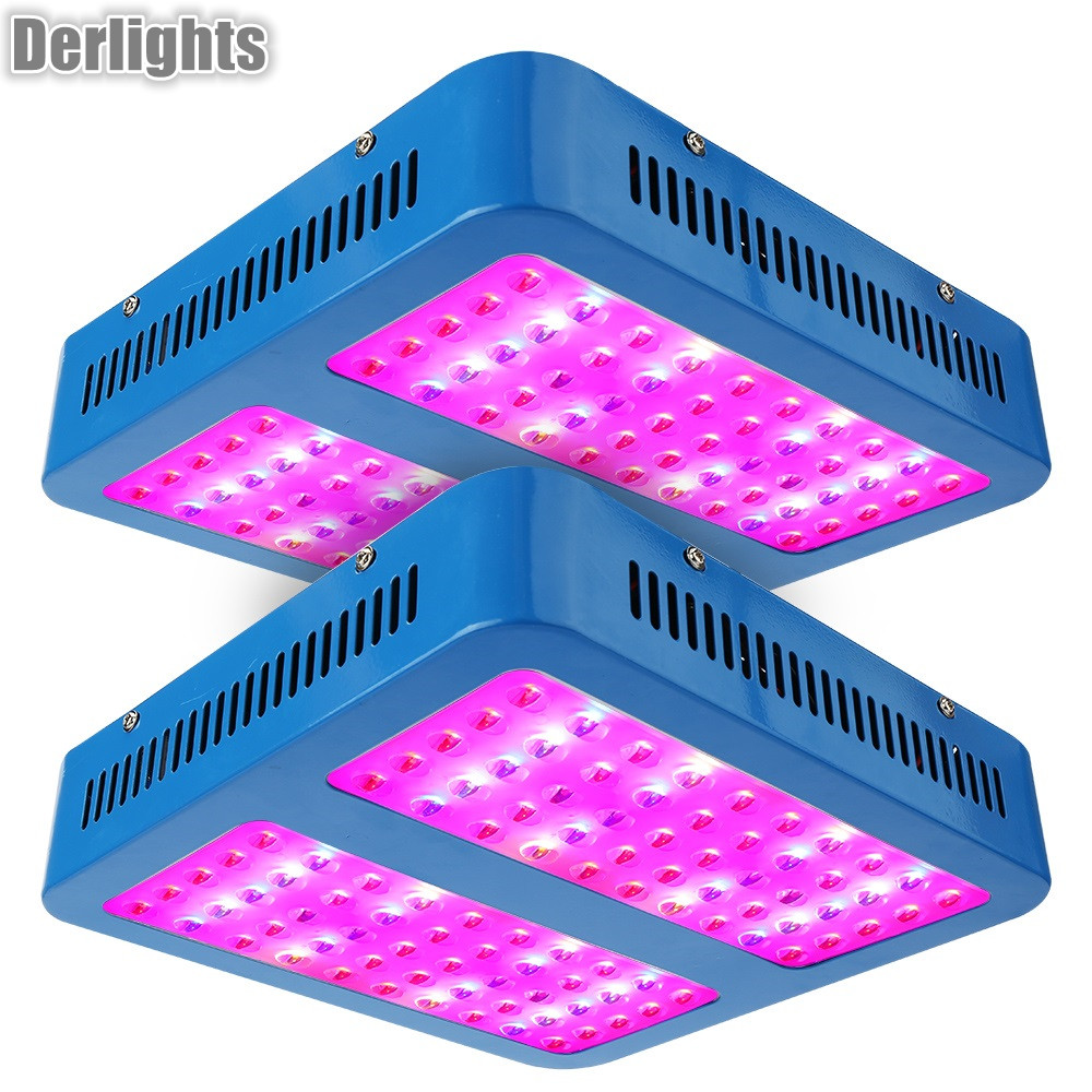 2PCS LED Grow Light 1000W Full Spectrum Red/Blue/UV/IR For Indoor Plant Aquarium Greenhouse Hydroponic Flowering Growing 1pc led grow lights e27 15w 3 red 2 blue for flowering plant and hydroponics greenhouse led lamp full spectrum free shipping