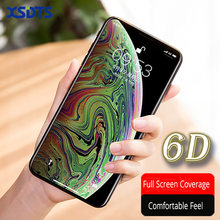 XSDTS 6D Curved Full Cover Tempered Glass For iPhone X XS Max XR 10 8 7 6 6s Plus Screen Protector Protective Glass Film(China)
