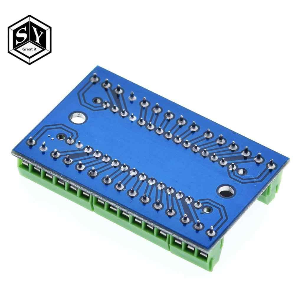 1 pièces NANO V3.0 3.0 contrôleur Terminal adaptateur carte d'extension NANO IO bouclier Simple plaque d'extension pour Arduino AVR ATMEGA328P