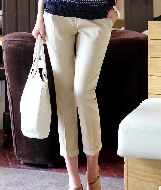 New 2019 Spring summer women plus size   pants     capris   fashion slim   capris   high waist   pants   casual   pants   women