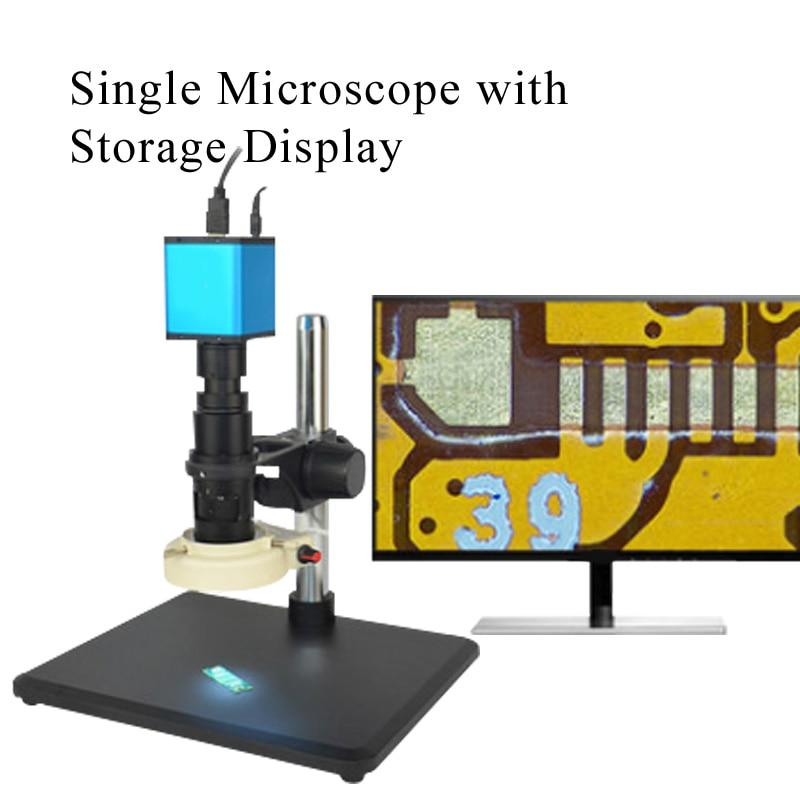 Автоматический Фокусировочный микроскоп Высокое Разрешение HDMI высокоскоростное электронное видео измерение для 14 миллионов промышленных электронных - Цвет: Золотой