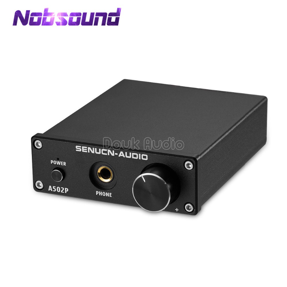 Nobsound Mini HiFi Digital Power Amplifier Stereo Headphone Amplifier 50W*2 TPA3116 With 24V/4A Power Supply