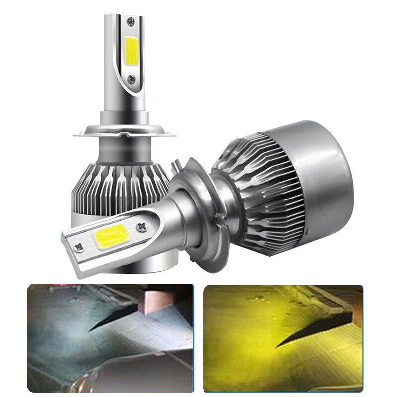 LED COB avtomatik fara farası duman farası Dönüşüm dəsti 6000K - Avtomobil işıqları - Fotoqrafiya 1
