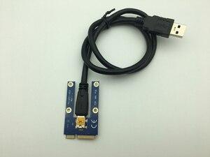 Image 2 - Мини PCI E к PCI Express Райзер карта PCIE 1x к 16x слот USB 3,0 кабель для передачи данных SATA к 6Pin источник питания для майнинга биткоинов