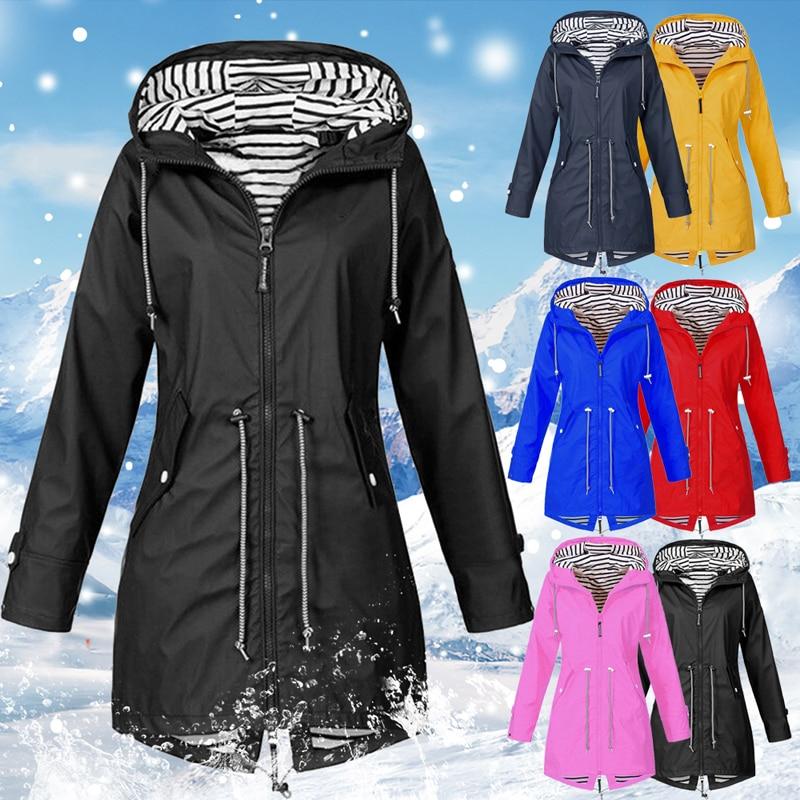 HTB1V.SsXHj1gK0jSZFuq6ArHpXad LASPERAL 2019 Women Jacket Coat Waterproof  Transition Jacket Outdoor Hiking Clothes Lightweight Raincoat Women's Raincoat