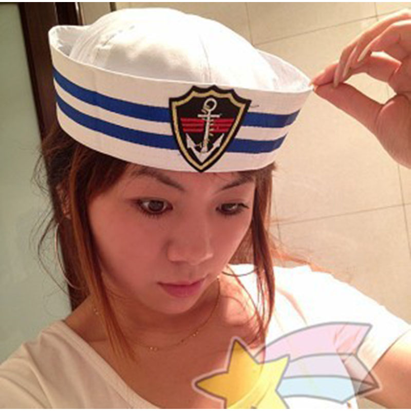Marinai Nave Capitano Del Cappello Militare della Marina Marine Cap Con Sea  Anchor Nautica Nautica Vestito b6f2731974ec