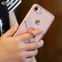 Mobile Phone Cases For Apple iPhone 7 Case Original Remax TPU+PC Frame+Ring Holder Stand Phone Case for iPhone 7 Plus Cover