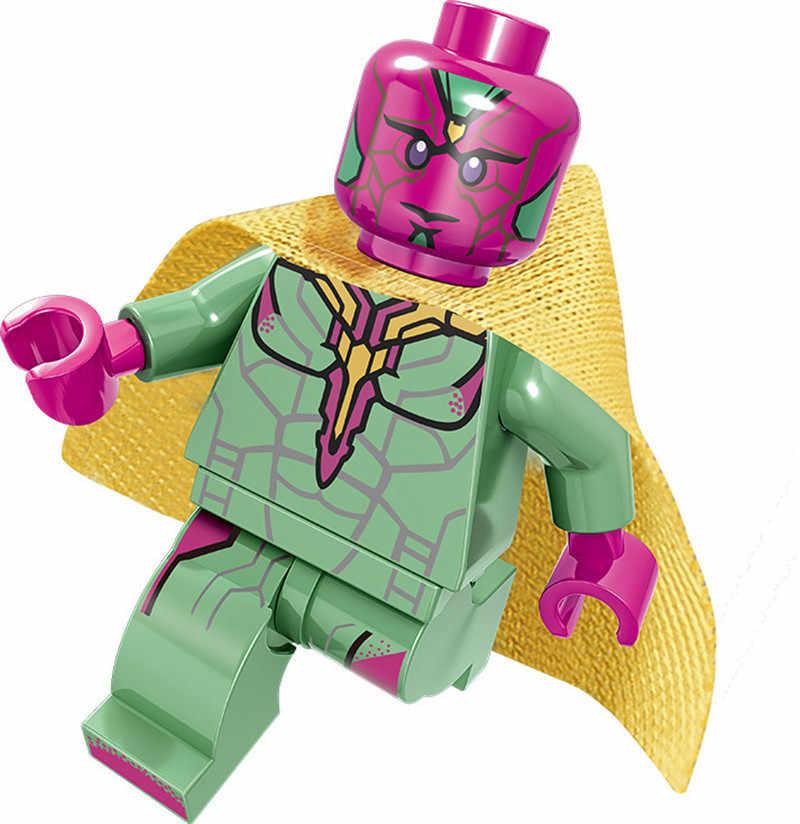 Legoing Super Heroes Marvel фильм «мстители» фигурки экшн-модель строительные блоки игрушки для детей