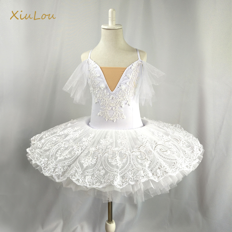 White Swan Professional Ballet Tutu Child Kids Girls Ballerina Costume Contemporary Party Dance Costumes Ballet Tutu Child Adult