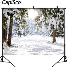 Capisco Achtergrond Fotografie Winter Bos Sneeuw Kerstboom Achtergrond Aangepaste Fotografische Achtergronden Voor Foto Studio
