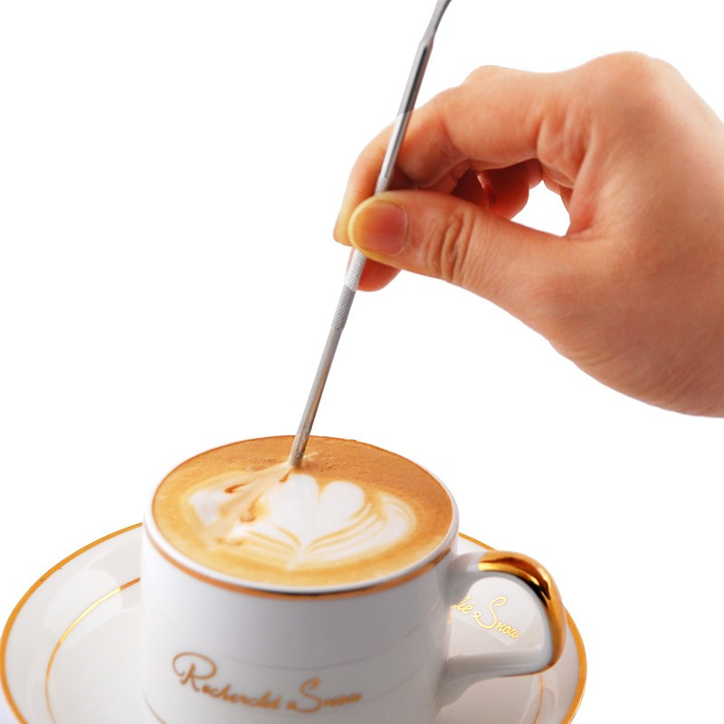 Barista Cappuccino Espresso Coffee Decorating Latte Art Pen Tamper Needle Creative High Quality
