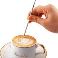 Barista cappuccino espresso café decoração latte arte caneta calcadeira agulha criativa de alta qualidade