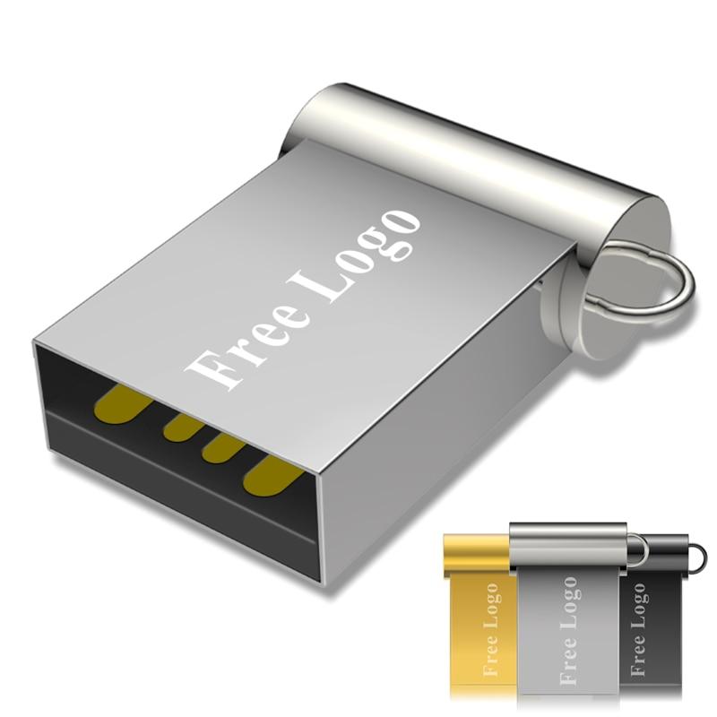Usb Flash Drives 2.0 Spuer Mini Metal Pendrive 128gb Pen Drive 64 Gb Personalized Gb 8gb 16gb 64gb 32gb Memory Stick Portable
