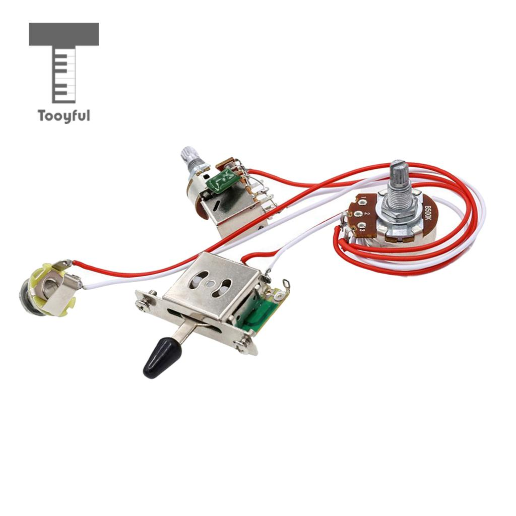 Electric Guitar Wiring Harness Prewired Kit 3 Way Toggle Switch 1 Diagram For Tooyful Set Volume