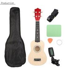 Senrhy 21 Soprano Ukulele Uke Guitar Combo Hawaii Bass Guitar Guitarra Musical Instrument Set Kits Tuner