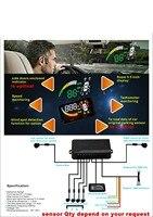Парктроник HUD автомобиль слепое пятно детектор парктроником 5.5 HUD OBD II Head Up + 2 BSA Sensor + 4 назад радар 2 передних датчик