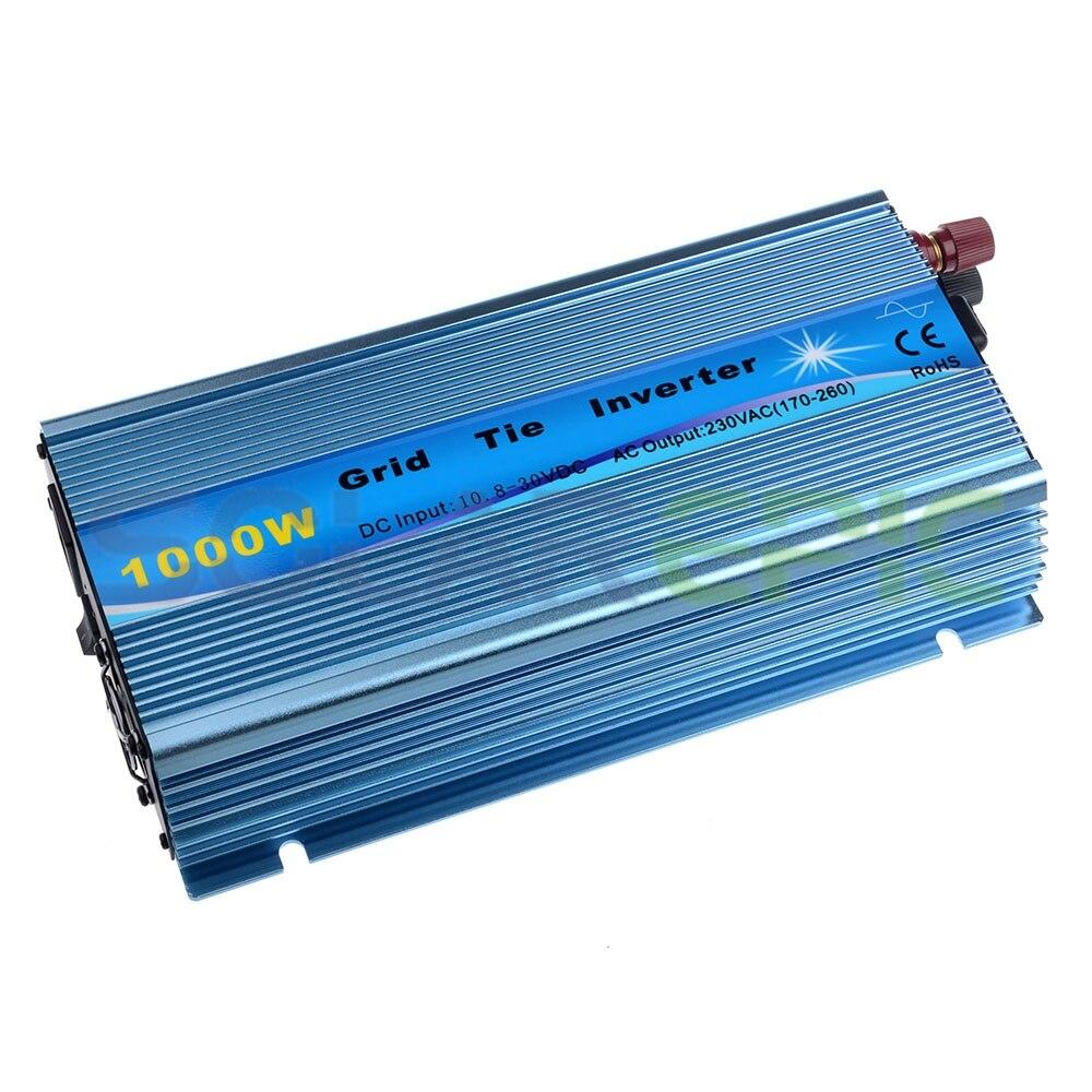 1000W Grid Tie Inverter DC10.5-31V or DC20-45V to AC110V or 220V Pure Sine Wave Inverter 1000W MPPT Solar Inverter 50Hz/60Hz CE1000W Grid Tie Inverter DC10.5-31V or DC20-45V to AC110V or 220V Pure Sine Wave Inverter 1000W MPPT Solar Inverter 50Hz/60Hz CE