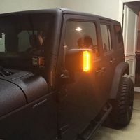 LED OFF ROAD REARVIEW MIRROR UPGRADE With Turn Signal Lights DRL Side Mirror Lights For JEEP