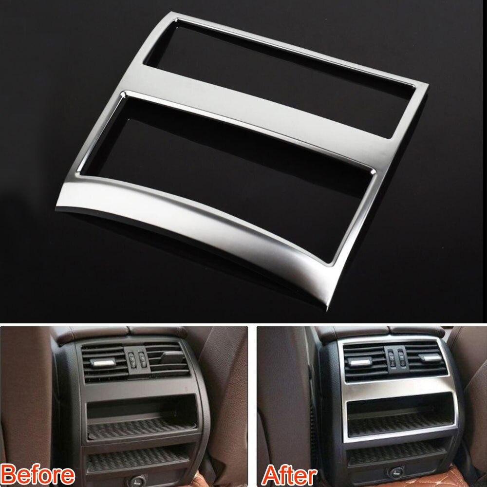 ABS подлокотник коробка задний Вентиляционный Выход крышка отделка рамка украшение для 2011 2015 bmw 5 серии F10 520 525 автомобильный Стайлинг