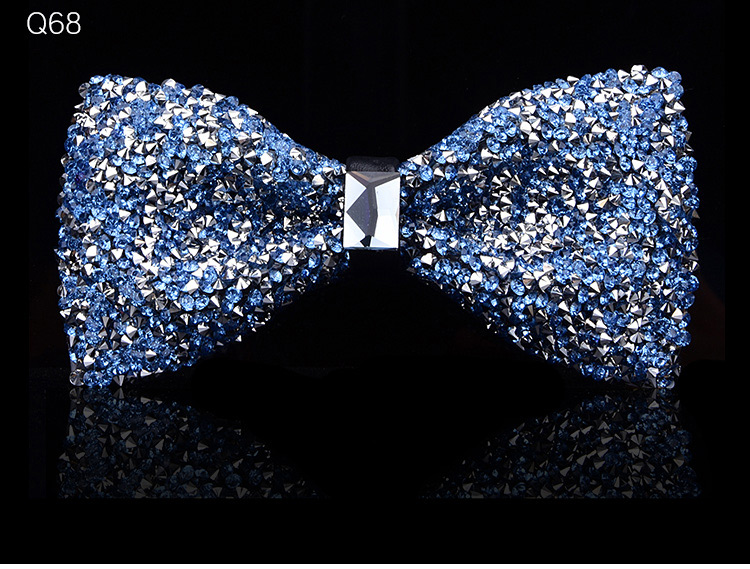 New bow tie crystal bling butterfly knot for men wedding banquet feast club party bridegroom shinning 14