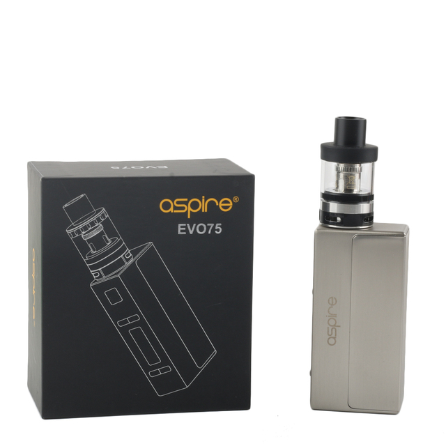 US $51 48 |Aspire EVO75 Kit with Atlantis EVO Tank and NX75 Mod Fit 18650  Battery Electronic Cigarette Vaporizer-in Electronic Cigarette Kits from