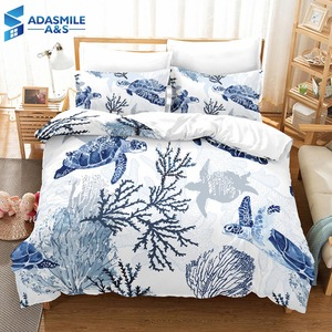 Image 1 - Boys Gift Sea Turtle Comforter Cover Bed Duvet Cover Set Kids Bedding Linens Set Soft and comfortable Bedclothes US Twin Queen