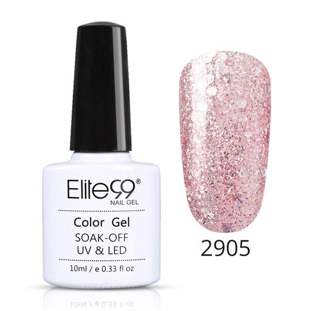 Elite99 10 ml Rose Gold Gel Lack Nagellack Bling Glitter Nagel Gel Tränken Weg Glänzende Nail art Maniküre UV Gel Lack