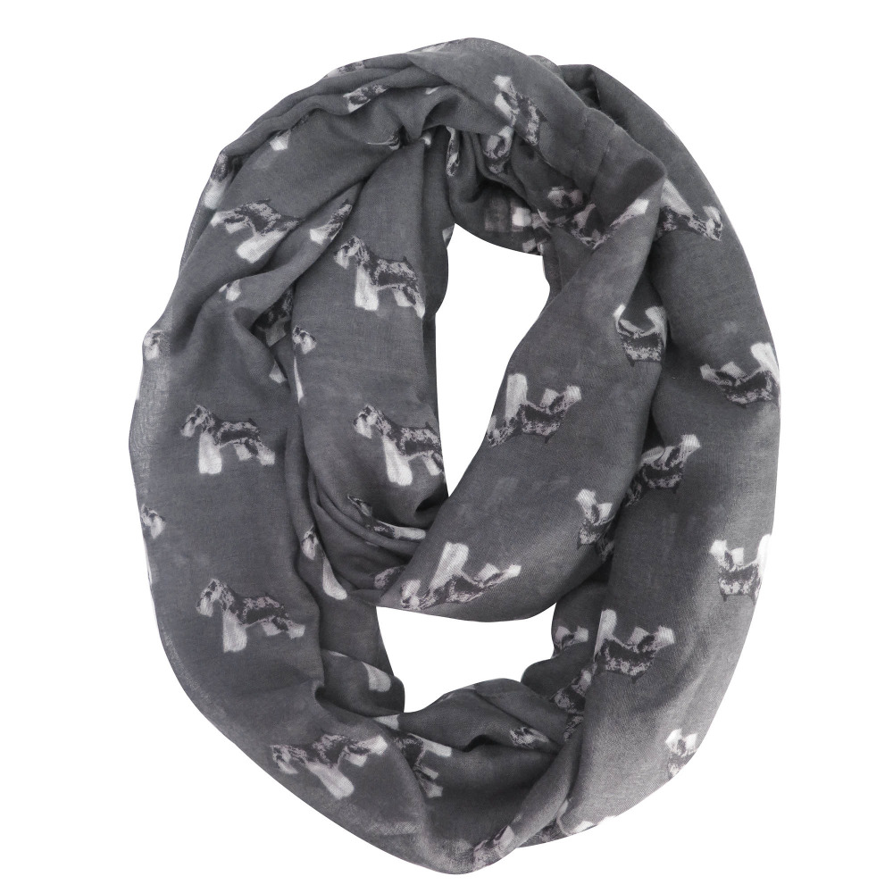 Large Size, Black Lina /& Lily Poodle Dog Print Womens Infinity Loop Scarf