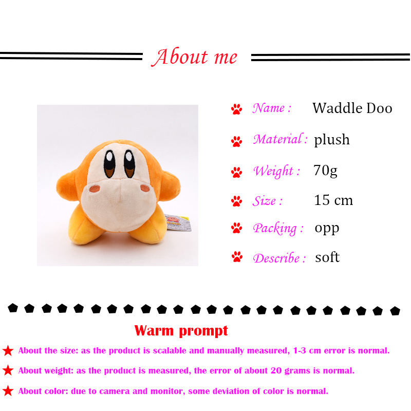3 Styles Anime Kirby Waddle Dee Waddle Doo Stuffed Peluche Plush Quality Cartoon Toys Great Christmas Birthday Gift For Children Movies Tv Aliexpress