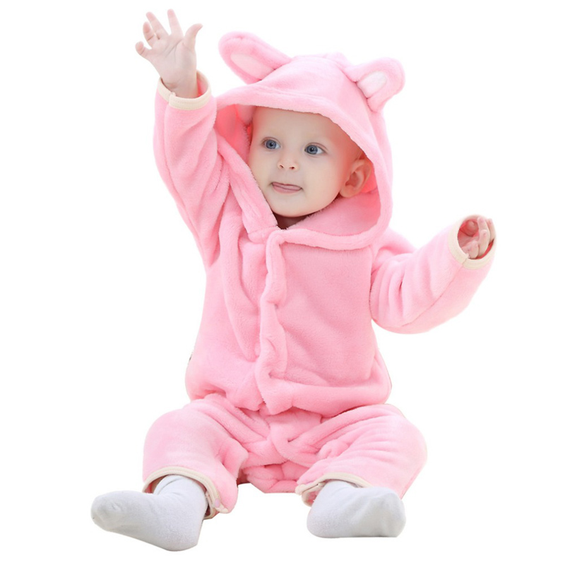 Autumn Baby Clothes Rompers Carter Coral Fleece Spring Animal Jumpsuit newborn Baby girl rompers baby boy clothes Bear romper autumn baby clothes flannel baby boys clothes newborn fleece animal girls jumpsuit hooded toddler cute bear romper baby costumes