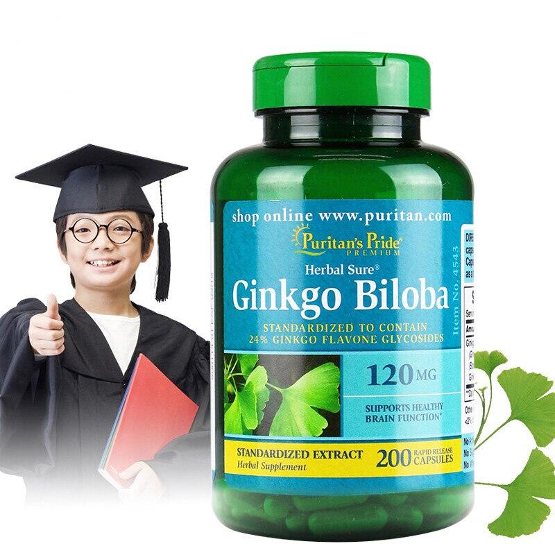 Ginkgo Biloba 120 mg 200 pcs Free shipping usa grapeseed extract 200 mg 120 capsules free shipping