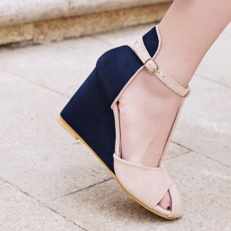High-quality-Spring-summer-T-strap-fashion-women-wedges-sandals-lady-ankle-strap-sandals-pumps-dress