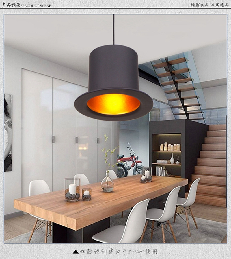 Modern european style milan fashionable top hat lamp household modern european style milan fashionable top hat lamp household dining room bar counter creative aluminium pendant lamp in pendant lights from lights mozeypictures Images