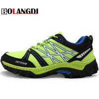 Bolangdi 2017 New Anti Slip Outdoor Men Hiking Shoes High Quality Trekking Camping Shoes Breathable Lace