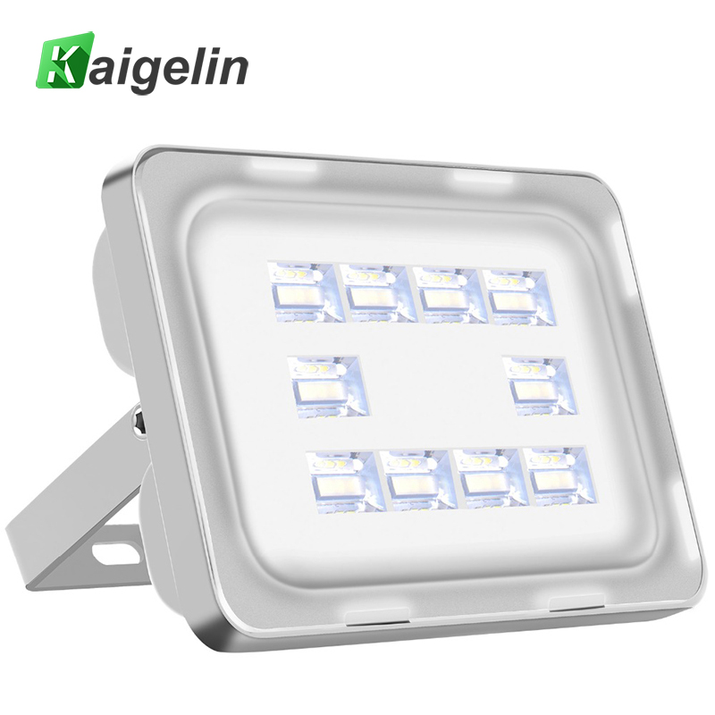 5 Pieces Kaigelin 30W LED Flood Light 220-240V 3600LM 40 LED Spotlight Waterproof Floodlight Reflector Outdoor Garden Lighting