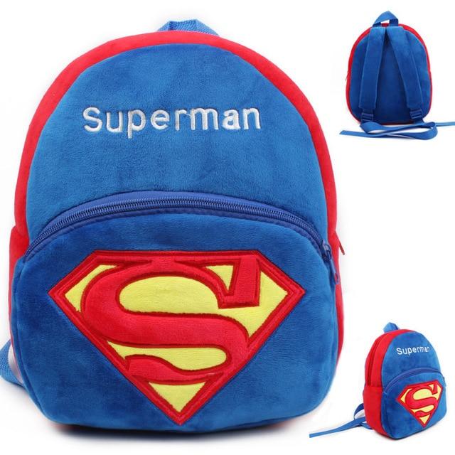 c6b59caf43 School bag cute cartoon superman toddler backpack kids soft plush children  school bags kindergarten school bag backpack