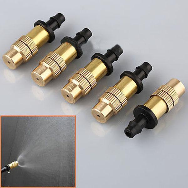 Garden spray nozzle adjustable brass misting hose