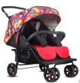 Twin stroller light folding can sit can lie two double stroller suspension