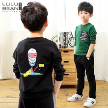 Children's clothing boys autumn 2017 new winter male baby shirt children's round neck sweater in the big boy pullovers tide