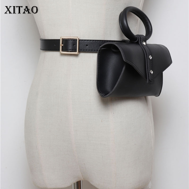 XITAO Single Shoulder Women Fashion Cummerbunds 2019 Summer P U Wild Joker Ring Handbag Casual Elegant Cummerbunds New WLD2146
