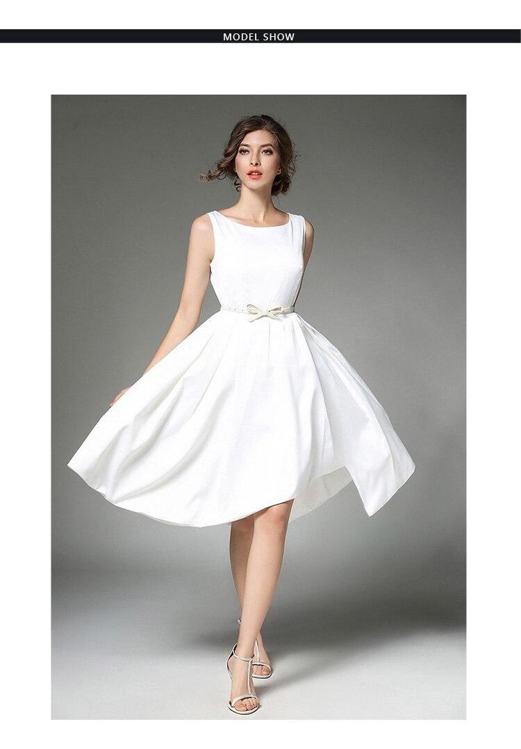 High-end Summer Party Dresses White Femme Robe Ete 2018 Women ...