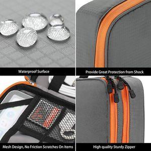 Image 5 - Accesorios electrónicos de doble capa espesar bolsa organizadora de Cables Estuche portátil para discos duros, Cables, carga, Kindle, iPad mini