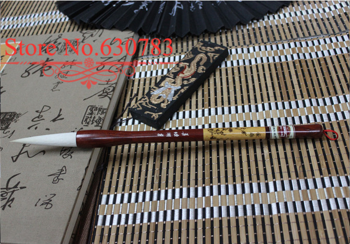 Advanced Chinese Brush with pure Woolen+Boxwood and Huanghauli Wood for Artist Painting and Writing, Promotion+Free shipping gre verbal and writing chinese edition